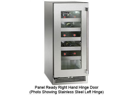 "Perlick 15"" Signature Series Panel Ready Glass Door Outdoor Wine Refrigerator - HP15WO-3-4R"