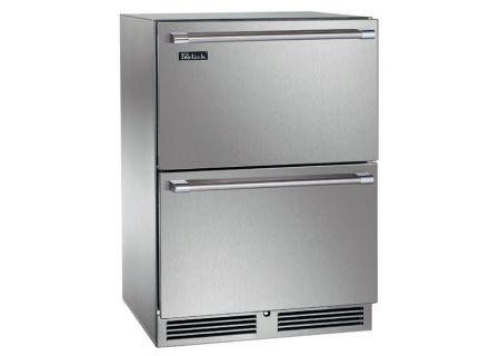 "Perlick Signature Series 24"" Stainless Steel Indoor Freezer Drawers - HP24FS-3-5"