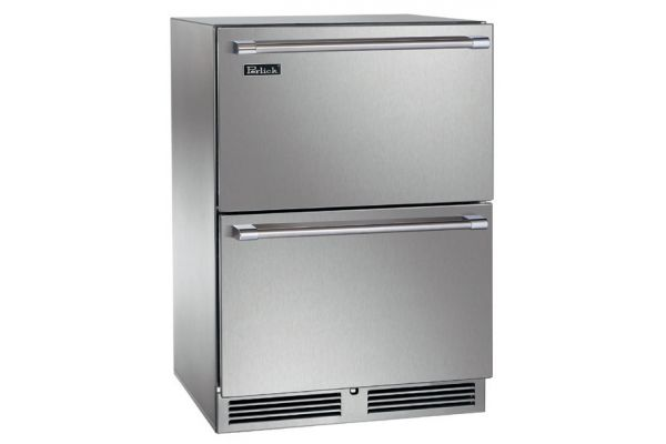 """Large image of Perlick Signature Series 24"""" Stainless Steel Indoor Freezer Drawers - HP24FS-3-5"""