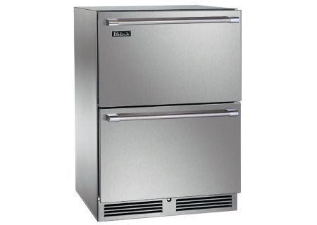 "Perlick 24"" Stainless Steel Signature Series Outdoor Drawer Refrigerator - HP24RO-3-5"