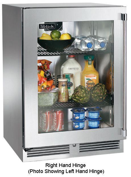 Perlick 24 Glass Door Indoor Refrigerator Hp24rs 3 3r