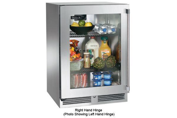 """Perlick 24"""" Stainless Steel Glass Door Signature Series Outdoor Refrigerator - HP24RO-3-3R"""