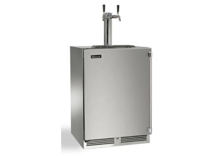 "Perlick 24"" Stainless Steel Signature Series Dual Tap Indoor Beer Dispenser - HP24TS-3-1L2"