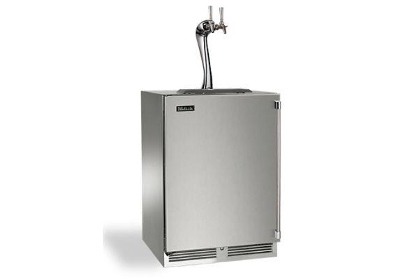 "Perlick 24"" Stainless Steel Signature Series Adara Beer Dispenser - HP24TS-3-1L2A"