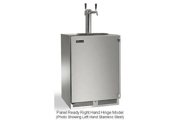 "Perlick 24"" Panel Ready Signature Series Dual Tap Beer Dispenser - HP24TS-3-2R2"