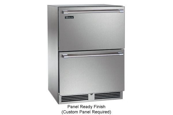 "Perlick Signature Series 24"" Wood Overlay Dual-Zone Indoor Freezer & Refrigerator Drawers - HP24ZS-3-6"