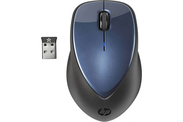 Large image of HP Winter Blue X4000 Wireless Mouse With Laser Sensor - HPH1D34AA