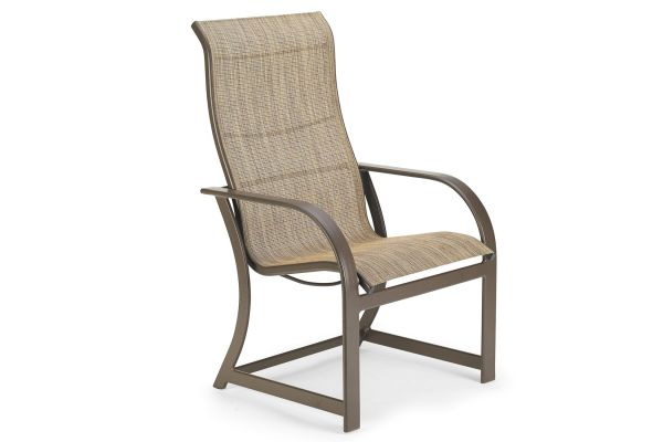 Large image of Winston Furniture Key West Sling Java Ultimate High Back Dining Chair - HQ8041