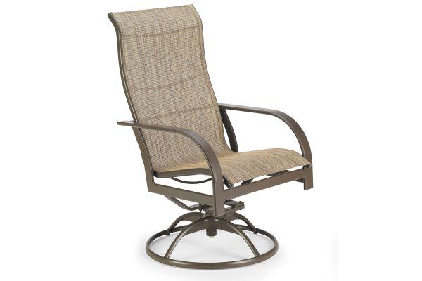 Large image of Winston Furniture Key West Sling Java Ultimate High Back Swivel Tilt Chair - HQ8059