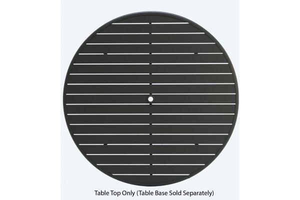 "Large image of Winston Furniture 48"" Round Slat Java Table Top With Hole - HQESL-048JAV"