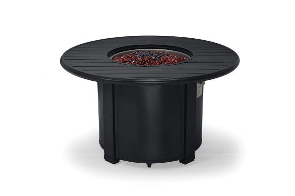 "Large image of Winston Furniture 44"" Slat Top Night Fire Pit - HQFP044BKN"