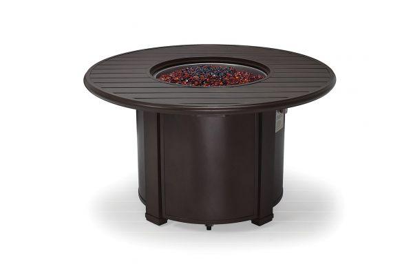 "Large image of Winston Furniture 44"" Slat Top Java Fire Pit - HQFP044JAV"