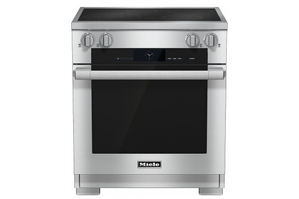 """Large image of Miele 30"""" Stainless Steel Freestanding Induction Range - 10902350"""
