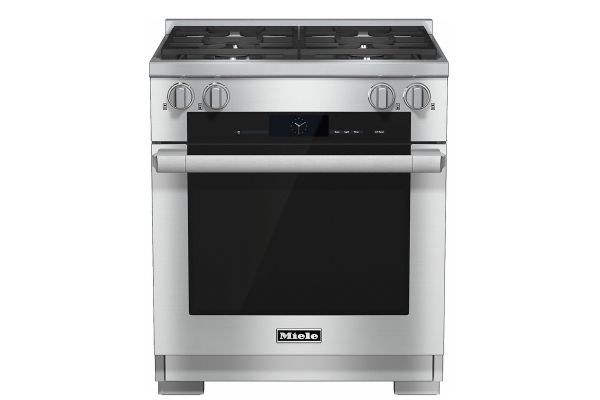 "Large image of Miele 30"" Stainless Steel Freestanding Dual Fuel Liquid Propane Range - 10902370"