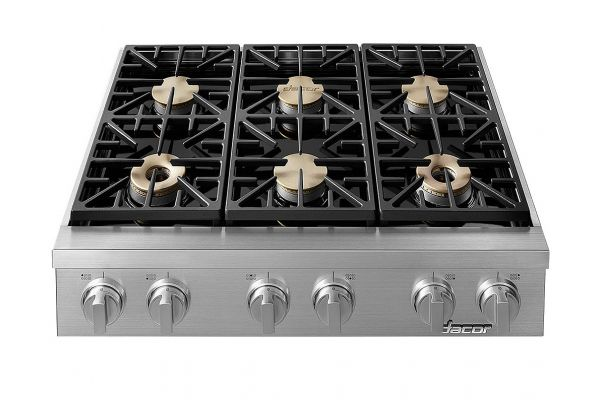 """Large image of Dacor Professional 36"""" Stainless Steel Liquid Propane High Altitude Rangetop - HRTP366S/LP/H"""