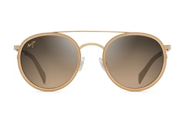 Large image of Maui Jim Even Keel Gold With Sandstone Polarized Fashion Sunglasses - HS534-22