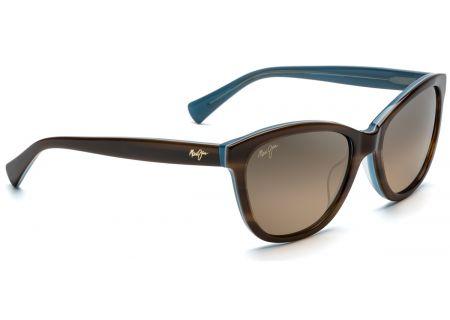 Maui Jim Canna Tortoise & Blue Womens Sunglasses - HS769-03T