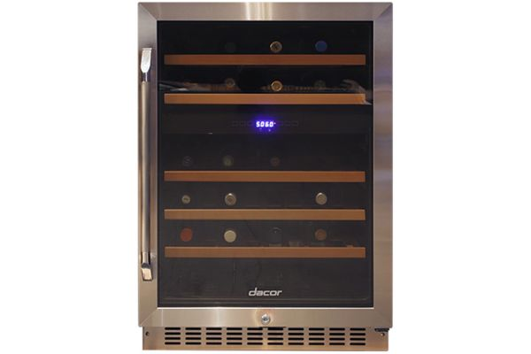 "Dacor Heritage 24"" Dual Zone Right-Hinge Stainless Steel Wine Cellar - HWC242R"