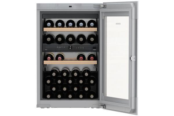"""Large image of Liebherr 22"""" Black Built-In Wine Cabinet - HWGB-3300"""