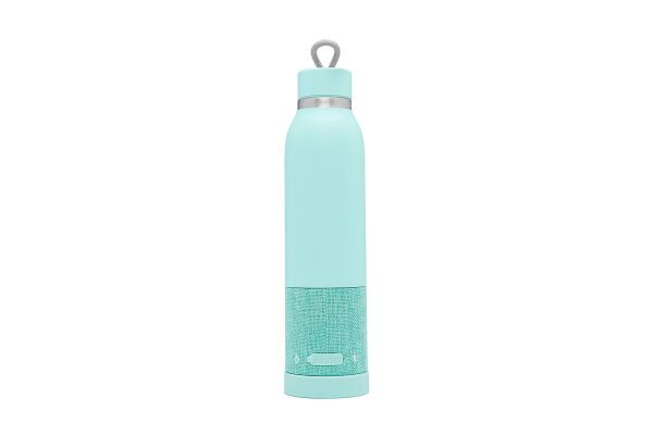 iHome iBTB2 Seafoam Aquio Double Wall Insulated Bottle + Waterproof Bluetooth Speaker - IBTB2QQC