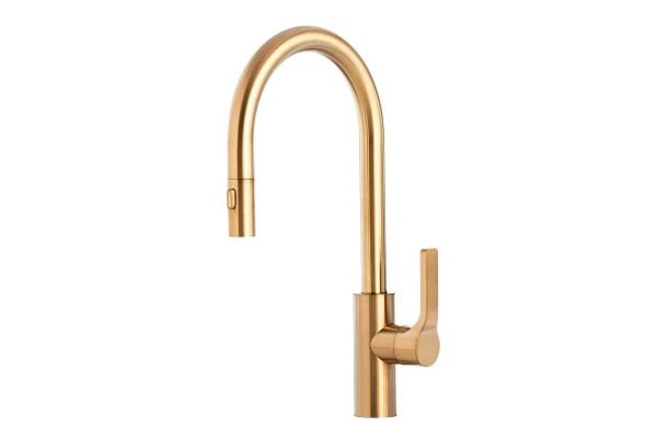 Large image of The Galley Ideal BarTap Brushed Gold Matte Stainless Steel Kitchen Faucet - IBT-D-YSS