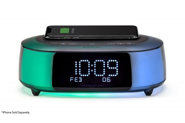Large image of iHome Qi Wireless Fast Charging Color Changing Bluetooth Alarm Clock - IBTW281B