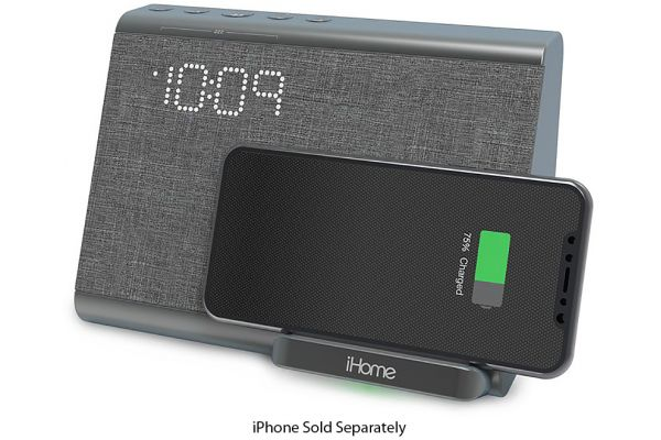 iHome Wireless Charging Bluetooth Dual Alarm Clock - IBTW39G