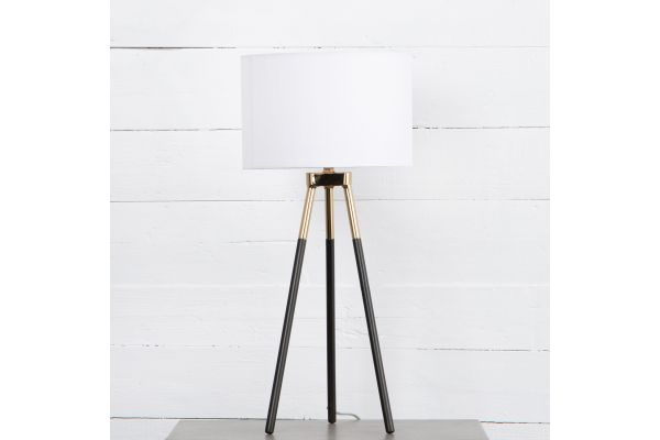 Four Hands Camden Collection Charcoal Iron Peter Table Lamp - ICAM-64