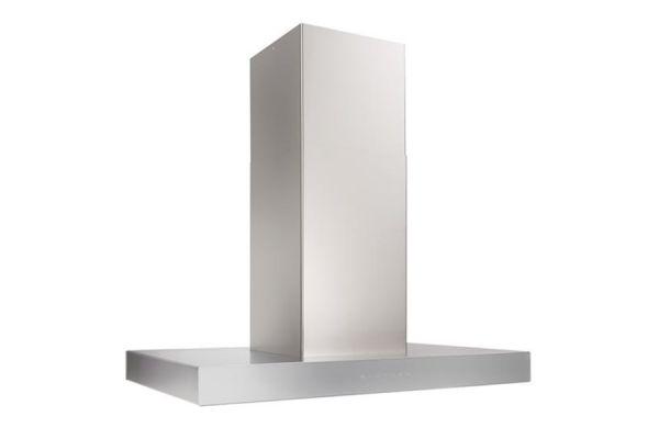 "Large image of Best Ispira 36"" Stainless Steel With Grey Glass Island Range Hood - ICB3I36SBS"