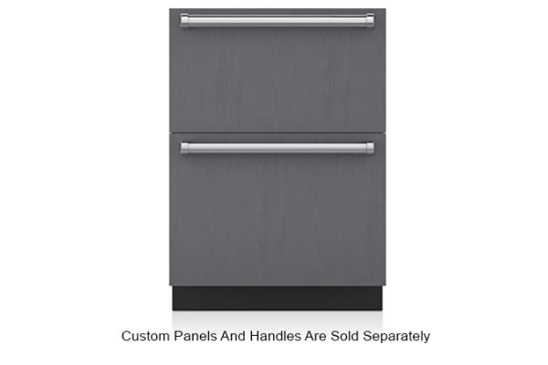 """Large image of Sub-Zero 24"""" Panel Ready Integrated Double Drawer Freezer With Ice Maker - ID-24FI"""