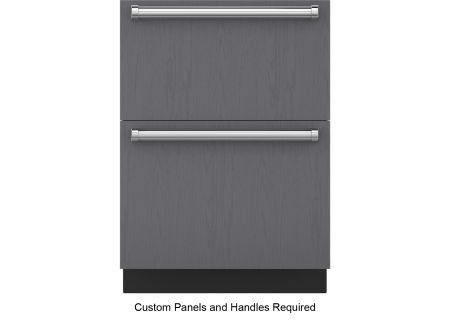 "Sub-Zero 24"" Panel Ready Integrated Double Drawer Refrigerator - ID-24R"
