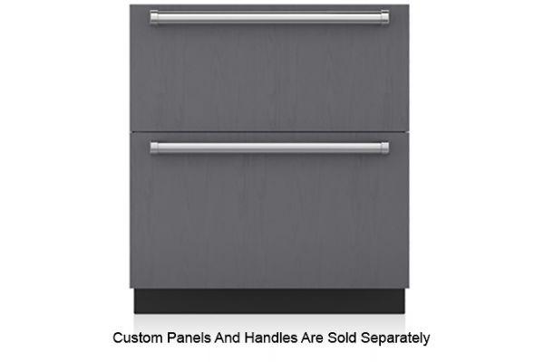 "Large image of Sub-Zero 30"" Panel Ready Refrigerator/Freezer Drawers With Ice Maker - ID-30CI"