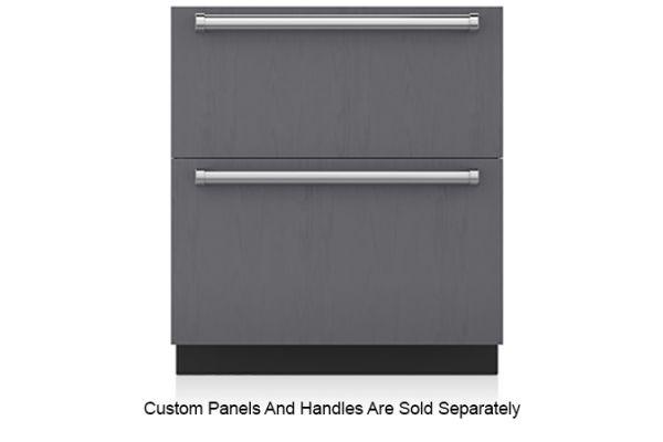 "Large image of Sub-Zero 30"" Panel Ready Integrated Double Drawer Freezer - ID-30F"
