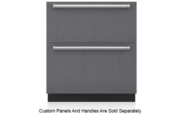 """Large image of Sub-Zero 30"""" Panel Ready Integrated Double Drawer Freezer With Ice Maker - ID-30FI"""