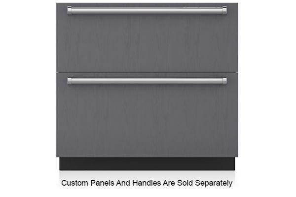 "Large image of Sub-Zero 36"" Panel Ready Refrigerator/Freezer Drawers With Ice Maker - ID-36CI"