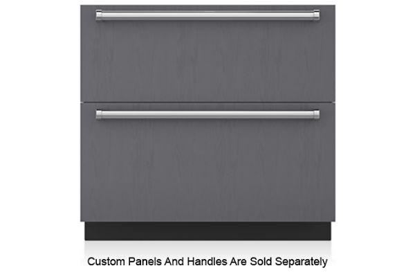 "Large image of Sub-Zero 36"" Panel Ready Double Drawer Refrigerator - ID-36R"
