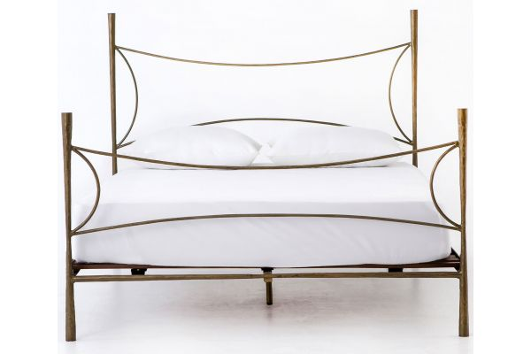 Large image of Four Hands Element Collection Westwood Antique Brass King Bed - IELE-91K