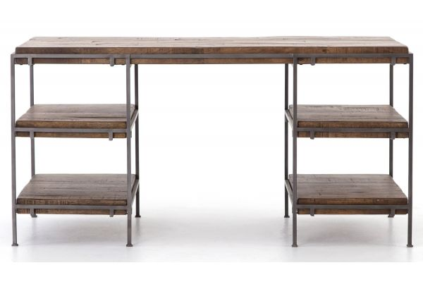 Large image of Four Hands Harmon Collection Simien Gunmetal Desk - IHRM-080