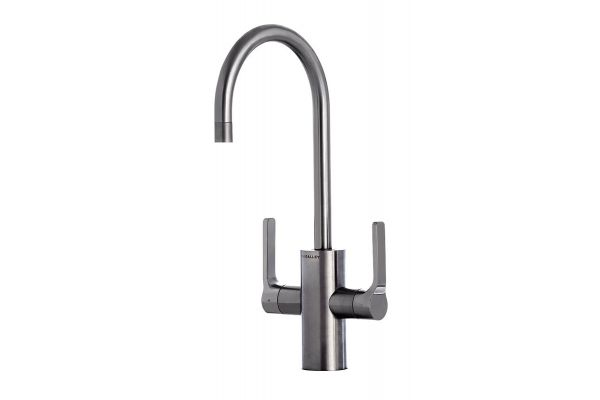 Large image of The Galley Ideal Gunmetal Gray Stainless Steel Hot & Cold Tap - IHT-D-GSS