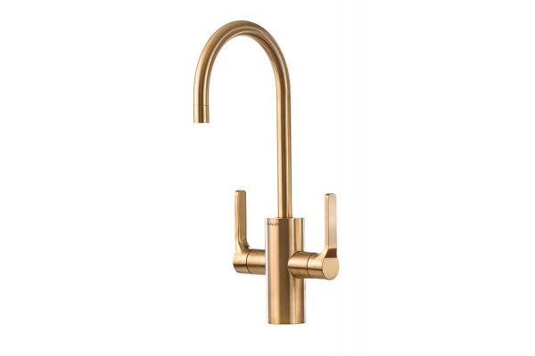 Large image of The Galley Ideal Brushed Gold Matte Stainless Steel Hot & Cold Tap - IHT-D-YSS