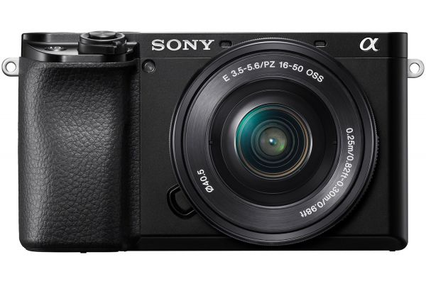 Sony Alpha a6100 24.2 Megapixel Black Mirrorless Digital Camera With 16-50mm Power Zoom Lens - ILCE6100L/B