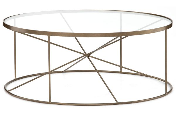 Large image of Four Hands Marlow Collection Lucas Round Coffee Table - IMAR-240