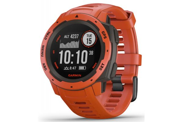 Garmin Instinct Flame Red Rugged GPS Smartwatch - 010-02064-02