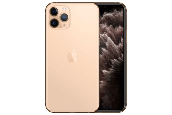 Large image of Apple 64GB Gold iPhone 11 Pro Cellular Phone - MW9E2LL/A & 6139C