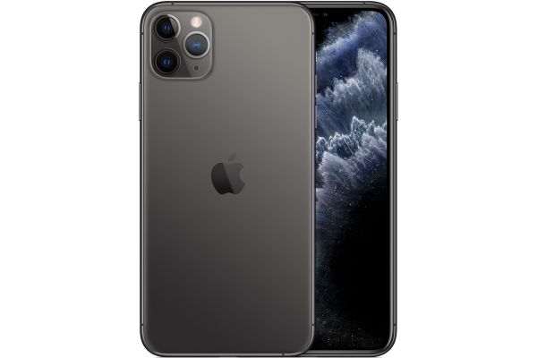 Large image of Apple 256GB Space Gray iPhone 11 Pro Max Cellular Phone - MWFE2LL/A & 6128C