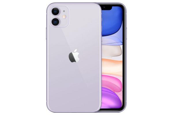 Large image of Apple 64GB Purple iPhone 11 Cellular Phone - MWHX2LL/A & 6167C