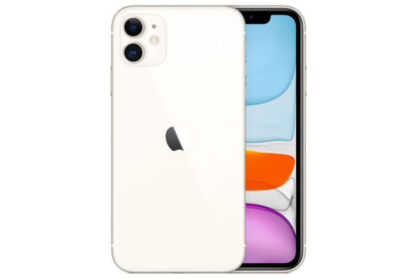 Large image of Apple 64GB White iPhone 11 Cellular Phone - MWHU2LL/A & 6154C