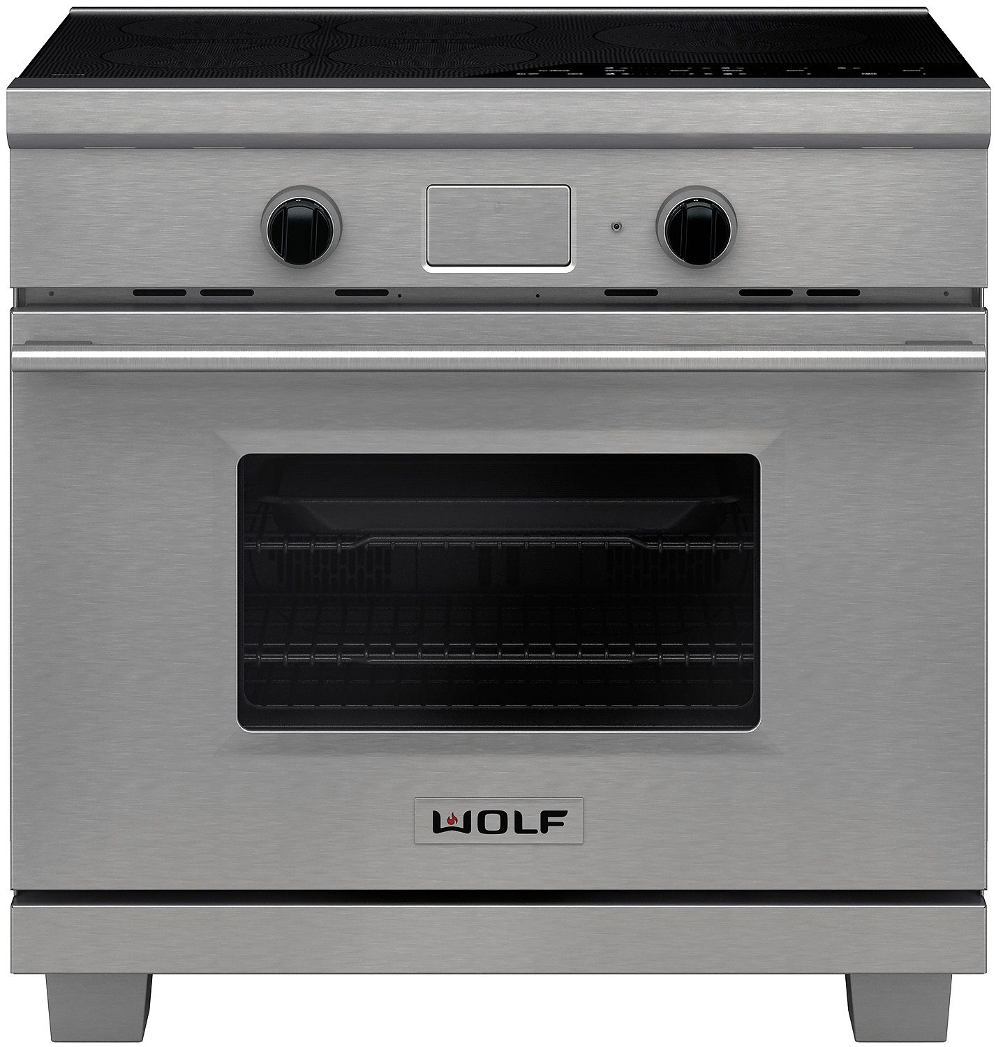 Wolf 36 Transitional Stainless Steel Induction Range