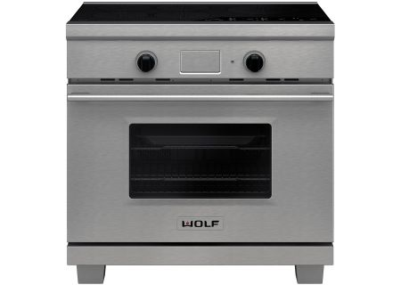 "Wolf 36"" Transitional Stainless Steel Induction Range - IR365TE/S/TH"