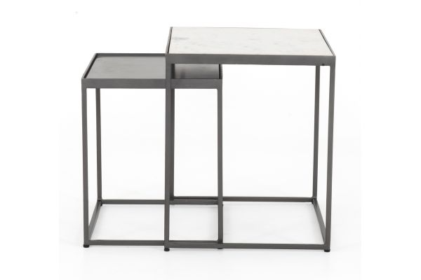Large image of Four Hands Rockwell Collection Evelyn Rectangle Nesting End Tables - IRCK-356